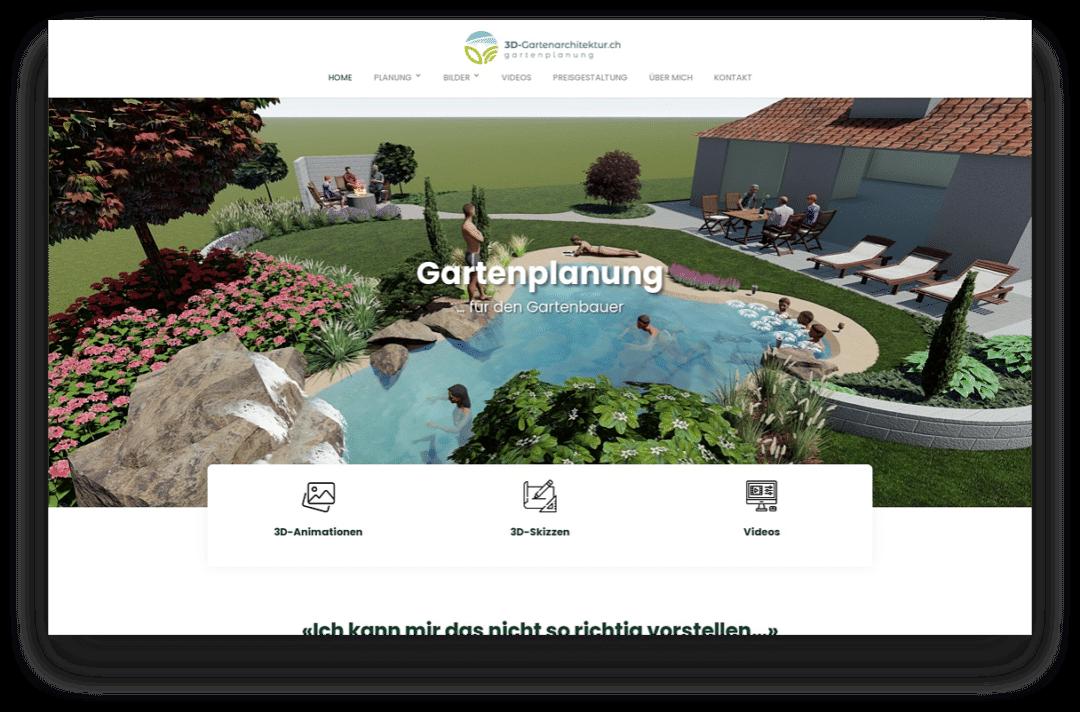3D-Gartenarchitektur